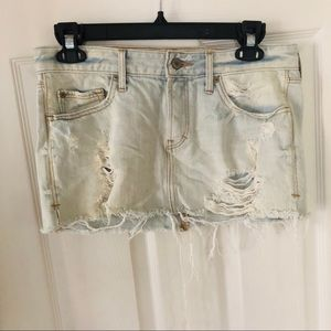 Abercrombie and Fitch denim distressed skirt